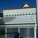 Télikert tető árnyékolás motoros redőnnyel