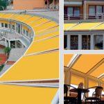Télikert tető árnyékoló, motoros és távirányítós működtetéssel
